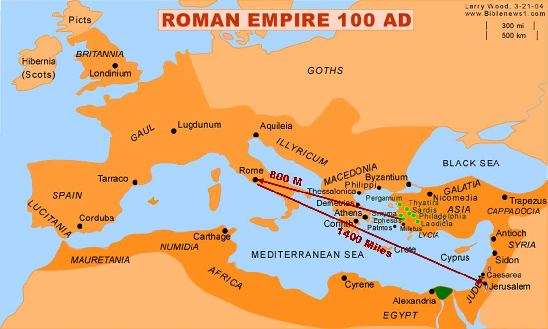 Map Roman Empire
